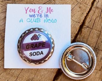 Grape Soda Pins | Grape Soda | Grape Soda Pin Favors | Party Favors | Wedding Favors | Pin | Soda Caps | Cute Favors