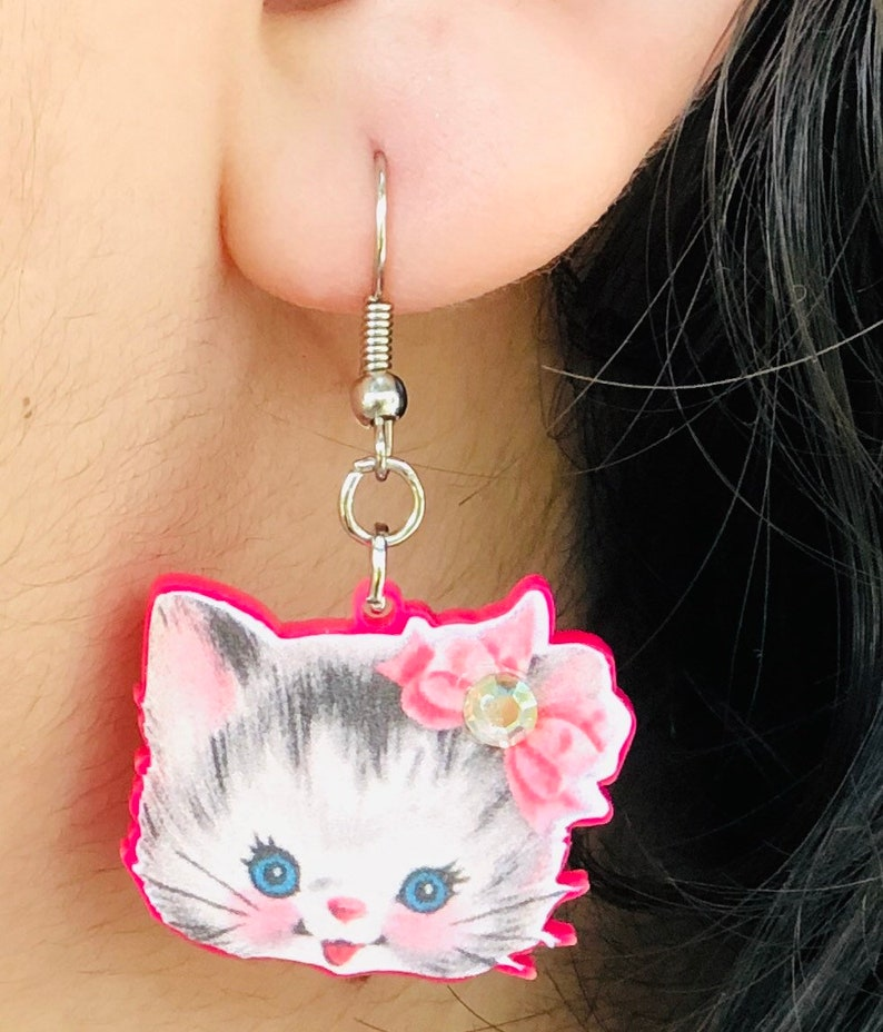 Free shipping Cat Kitten Kitty pierced hook surgical image 0