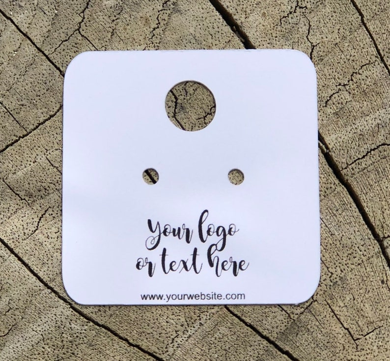 Pierced earrings display card custom personalized jewelry image 0