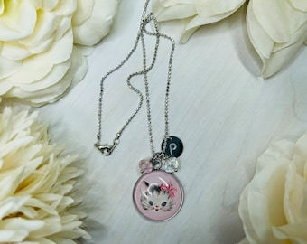 Kitten Necklace   Kitty Charm   Initial Necklace   Cat Jewelry   Cat Charm   Kitten Jewelry   Cute Cat Gift   Cat Lover Gift   Cat Necklace
