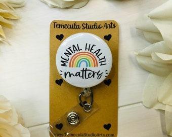 Mental Health Gift | ER Nurse Badge Reel | Therapist Gift | Pinch Clip Badge Reel | Nurse Badge Reel | Mental Wellness