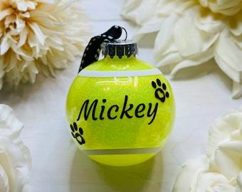 Dog Ball Ornament | New Puppy Ornament | New Dog Ornament | Dog Lover Gift | Dog Ornament | Tennis Ball Ornament | Rescue Dog | Tennis Ball