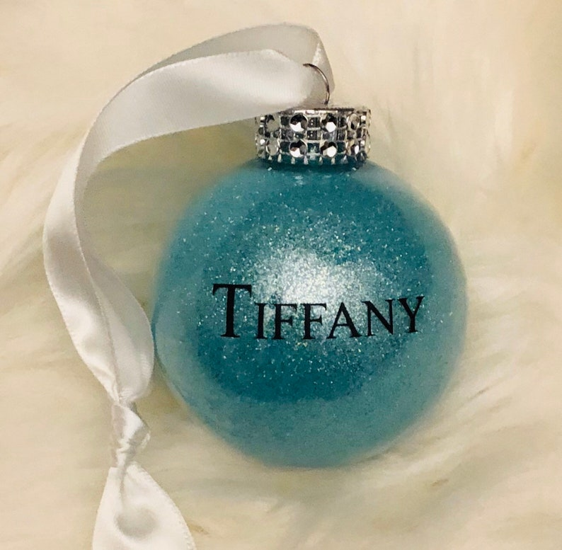Personalized & dated round shatterproof tiffany robbins egg image 0