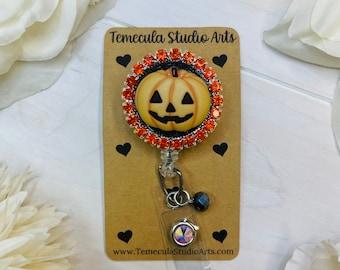 Halloween Badge Reel   Cute Halloween   Halloween Pumpkins   Halloween Badge   Jack o lantern   Nurse Gift   Teacher Gift   Funny Badge Reel