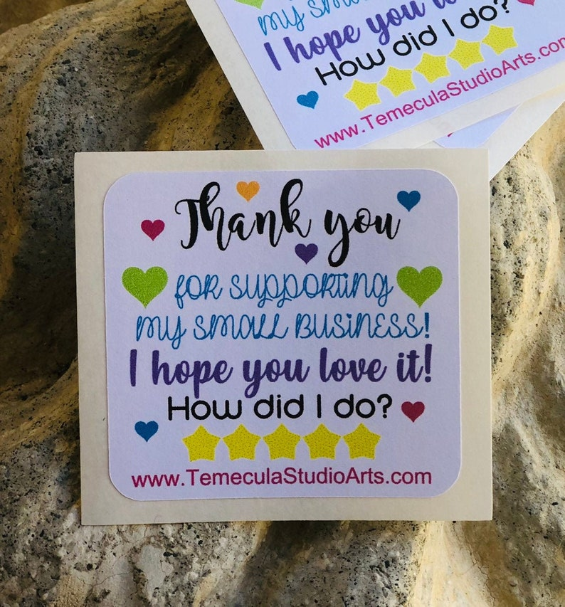 Personalized custom 2x2 Thank You small business image 0