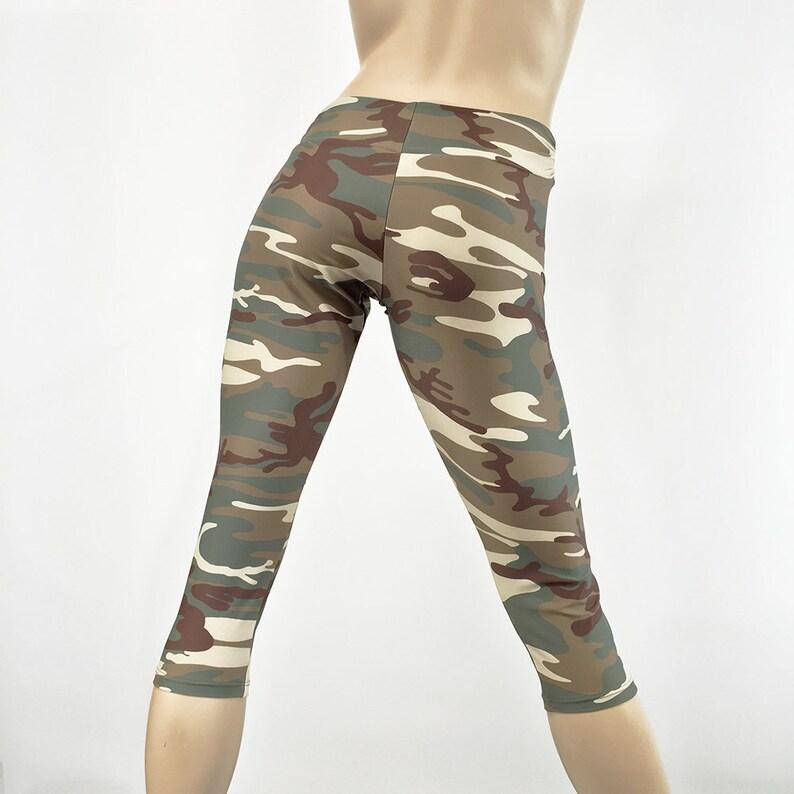 26c8f8c4fa Army Camo Yoga Capri Hot Yoga Camouflage Camo Yoga | Etsy