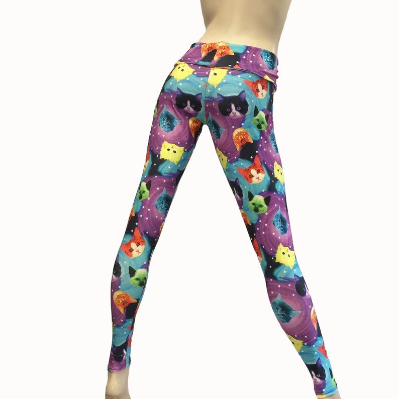 d7ea02de49b95 Yoga Pants Workout Clothes Hot Yoga Fitness Cat Lady | Etsy