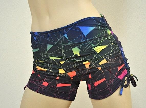 bc4357f32e SALE Size S/M Hot Yoga Shorts Fitness Shorts Electric | Etsy