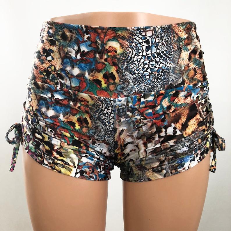 Hot Yoga Shorts Bikram cute yoga shorts SXYfitness Cheetah Animal Print Shorts