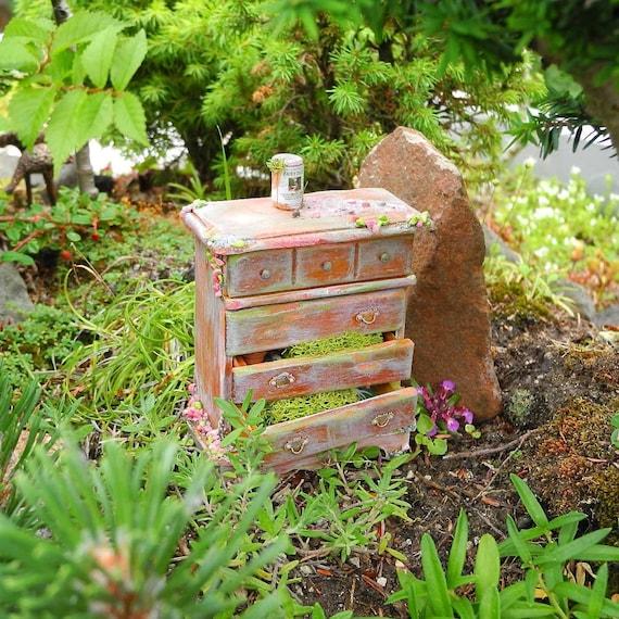 Small Fairy Garden Dresser for Your Garden Fairies Secrets in   Etsy