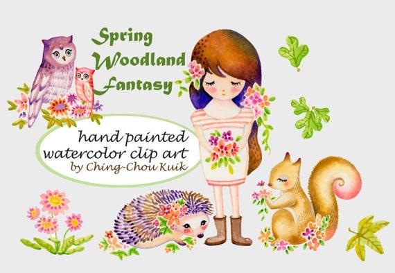 Pre Colored Spring Fantasy Bosco Download Immediato Mano Etsy