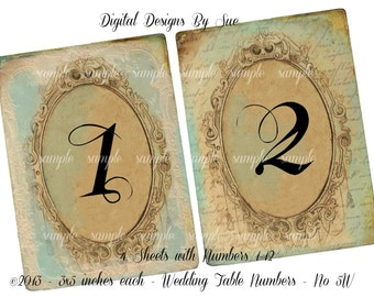 3x5 table numbers | Etsy