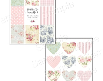 Instant Download  - Shabby Chic Printable - Digital Download - Printable  Digital Collage Sheet