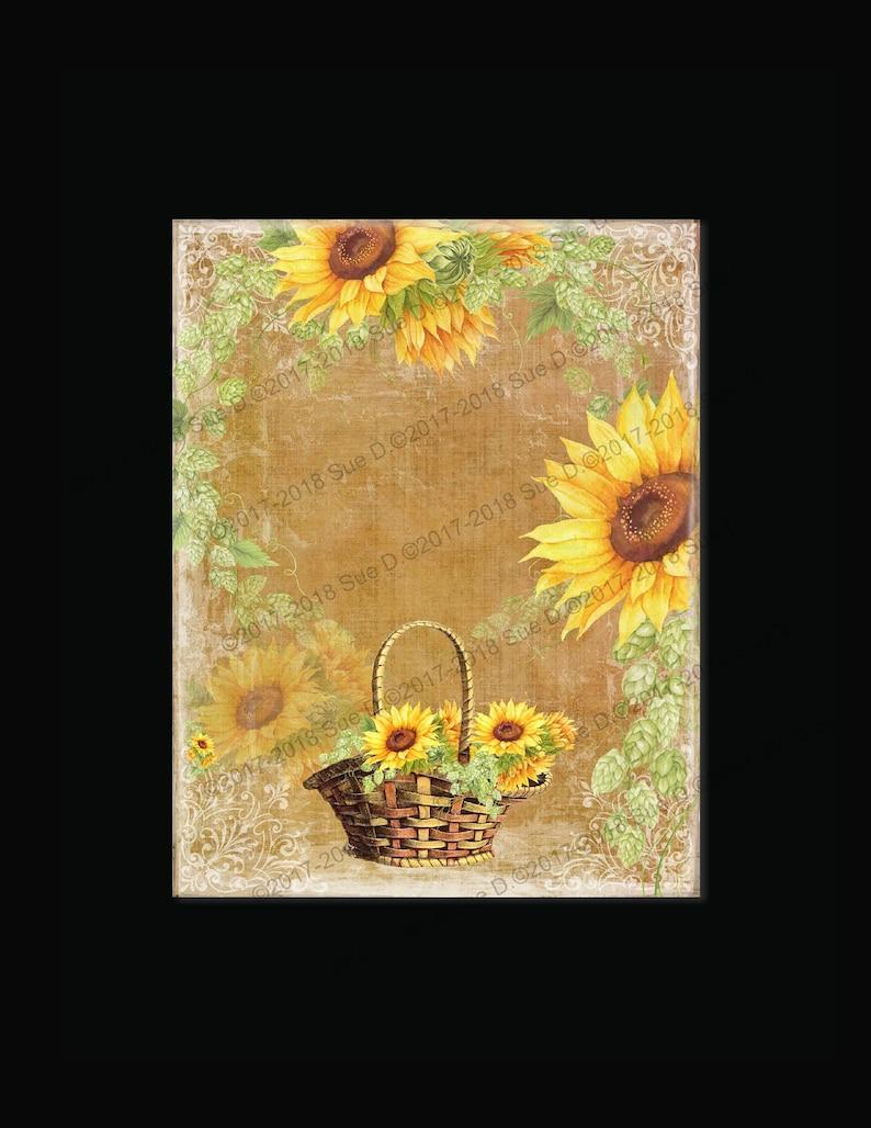 Sunflower Dreams INSTANT DOWNLOAD Original Design Digital Download