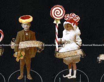8 Holiday Sweeties Placecard Greeting Standup