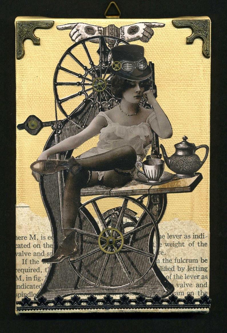 Steampunk Art  Sobriquette Pinion Machinist image 0