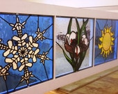 Seasons-Stained Glass Panels (P-58)