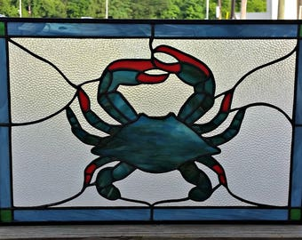 Stained glass crab | Etsy