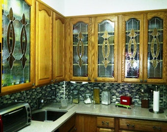 Kitchen Cabinet Glass Insert Etsy