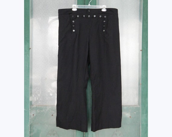 Women's Navy Blue Sailor Pants -M/L- Wool