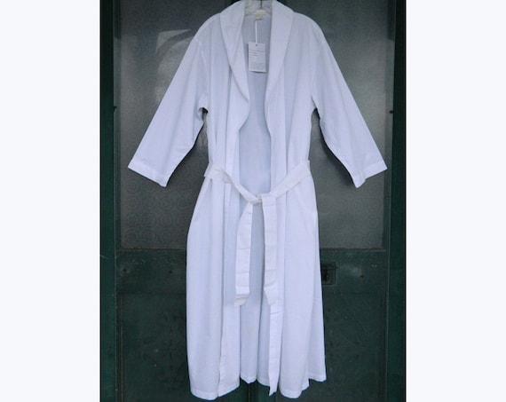 Whitewash Robe in Crisp White Cotton -L- NWT