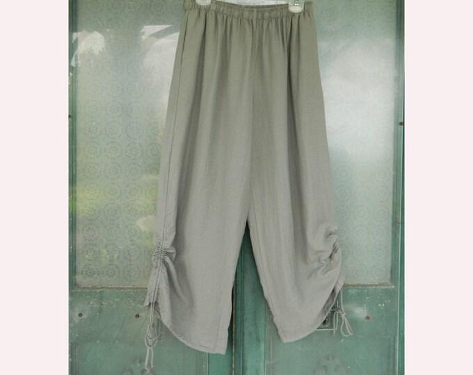 Et'Lois Stella Pant -XL- Stone Gray Rayon/Nylon NWT