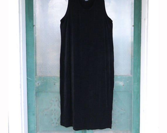 Vikki Vi Sleeveless Slip Dress 3X Black Stretch