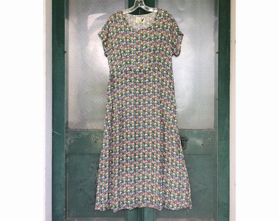 Angelheart Designs May Flowers Retro Movie Star Dress -S- Floral Rayon