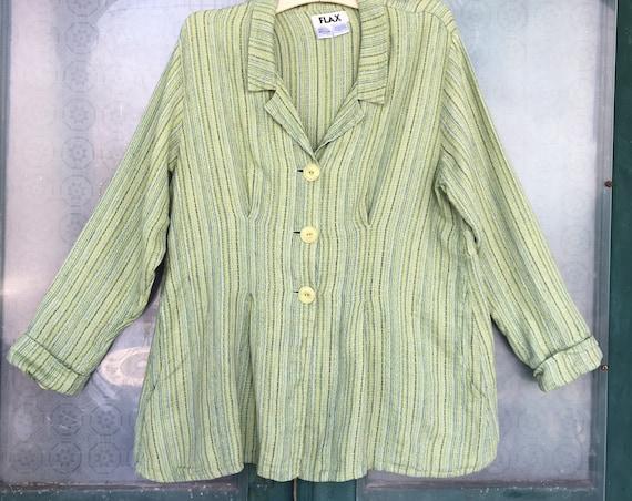 FLAX Engelhart Spring 2008 Jasmine Jacket -M- Prairie Blanket Linen