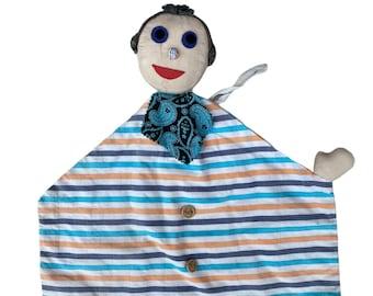 Vintage Cloth Folk Art Doll Pajama Bag