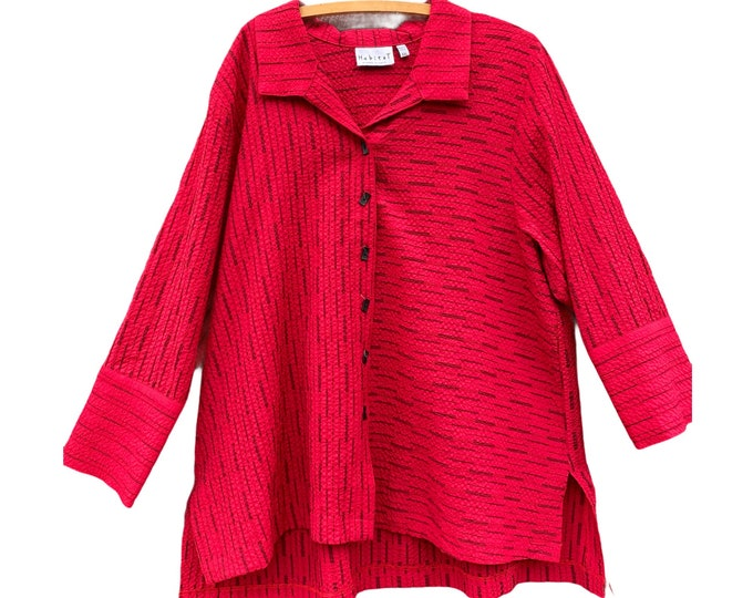 Habitat Deep Red Shirt Jacket -XXL- Rayon/Poly/Spandex