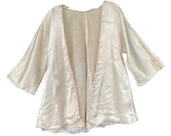 Vintage Ivory Satin Jacket Lining