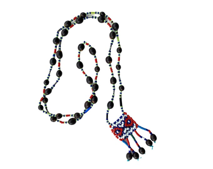 Vintage Colorful Beaded Necklace