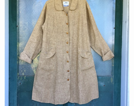 FLAX Engelheart Basic 2000 Sexy Switch Jacket -M- Toasted Coconut Linen