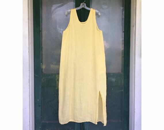 FLAX Engelheart Basic 2001 Jackpot Jumper -M- Yellow Handkerchief Linen