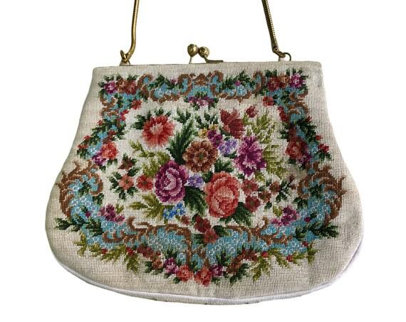 Vintage Floral Petit Pointe Handbag