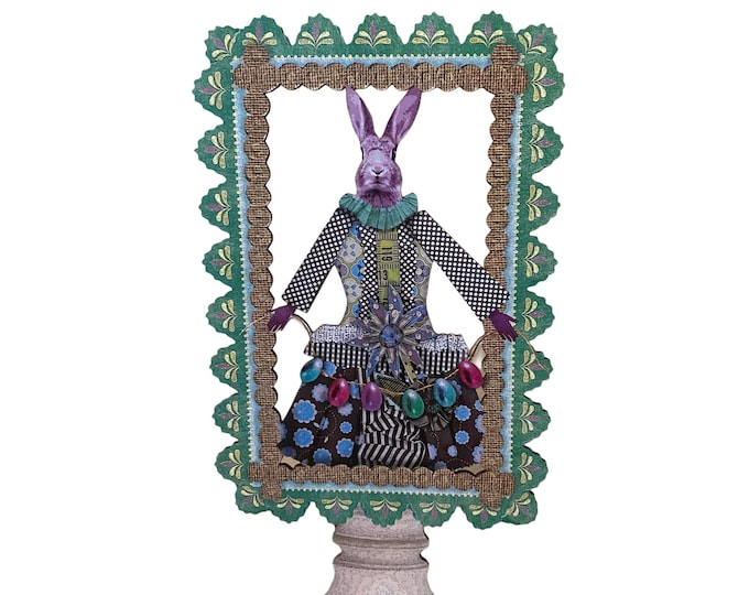 Well-Dressed Bunny Easter Pop-Up Decoration