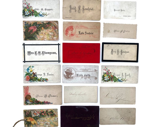 Victorian Calling Cards - Lot of 18