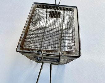 Small Vintage Box Strainer Fryer Cage