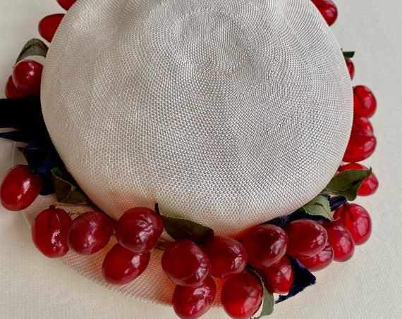 Vintage Hat with Celluloid Grapes