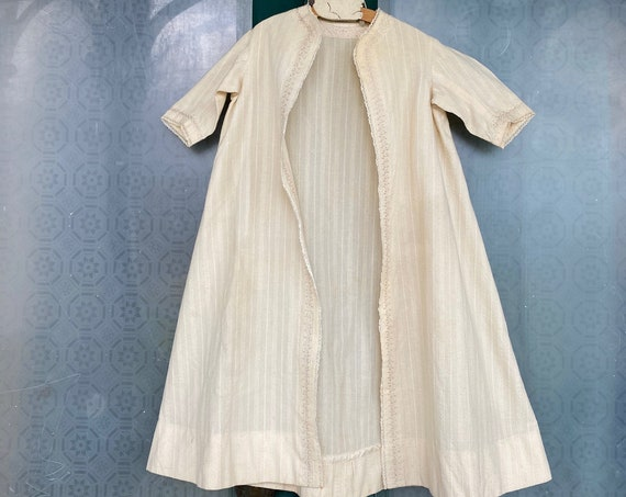 Vintage Infants Running Stitch Wool Robe