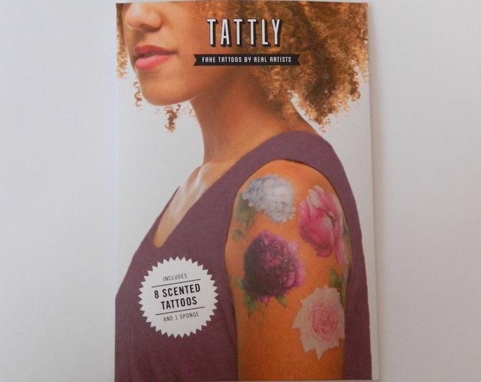 Tattly 8 Scented Perennial Flower Temporary Tattoo Set