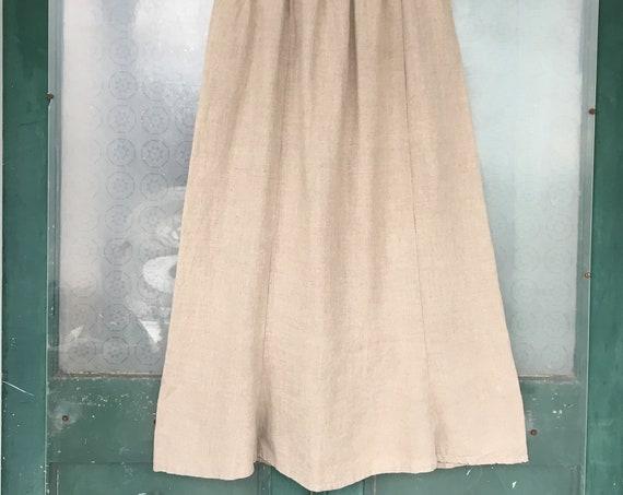 FLAX Designs Tied & True Skirt -L- Natural Linen NWT