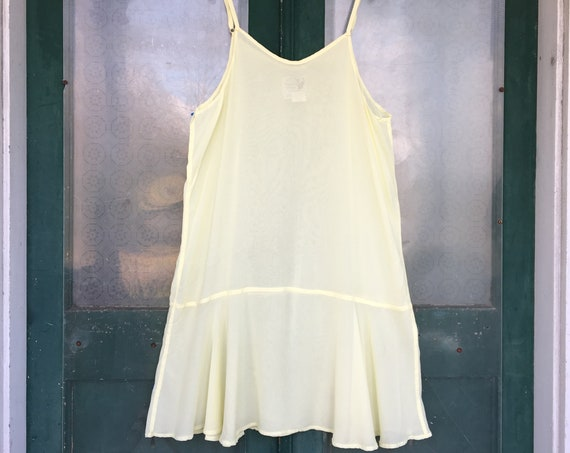 Angelheart Designs Flouncy Spagetti Strap Slip -L- Pale Yellow Rayon