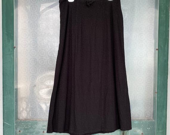FLAX Engelhart Falling Leaves 2000 Sublime Skirt -L- Black Rayon/Lycra
