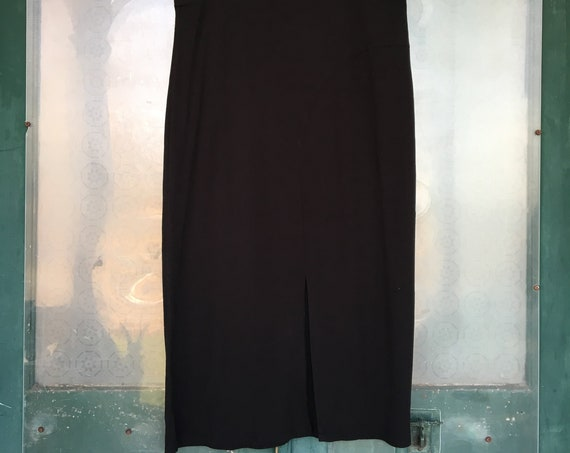 J. Jill Curved Seam Skirt -LP- Black Rayon Spandex
