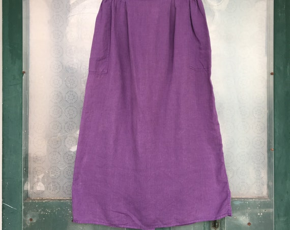 FLAX Engelhart Basic 1997 Simple Skirt -L- Amethyst Handkerchief Linen