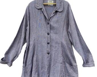 FLAX Engelhart Basic 2001 Enchanting Jacket -L- Purple Haze Linen
