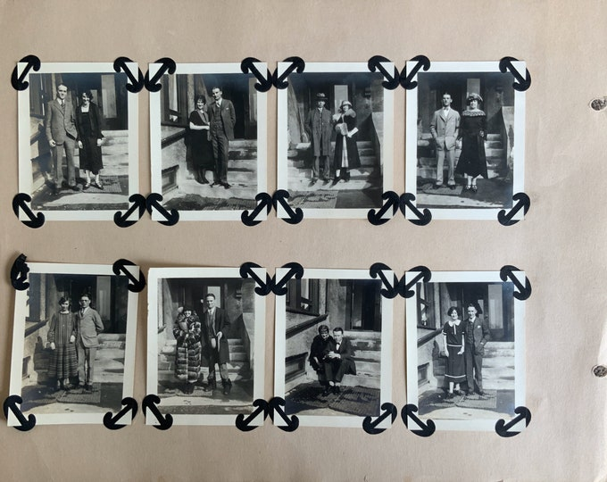 Cornell 1920s 8 Photo Scrapbook Page
