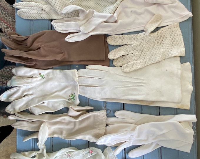 Lot of 20 Vintage Gloves for Craft Upcycle Reuse